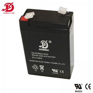 Kanglida 6v 2.8ah sealed lead acid battery