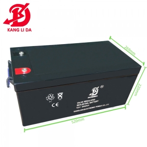12v 260ah deep cycle battery for solar system